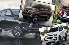 Với doanh số 1032 xe, Toyota Fortuner tiếp tục đứng đầu phân khúc SUV cỡ trung tháng 4