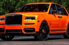 'Soi' chiếc Rolls-Royce Cullinan màu cam độc nhất vô nhị của cầu thủ Odell Beckham Jr