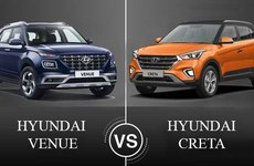 So sánh Hyundai Venue và Hyundai Creta 2019: Anh em đại chiến?