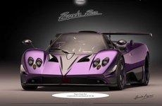 Ngắm bản phác họa về mẫu Pagani Zonda đẹp mê hoặc trong bộ cánh màu tím 'thủy chung'