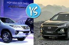 Phân khúc SUV 7 chỗ tháng 5/2019, Hyundai Santa Fe bám sát Toyota Fortuner