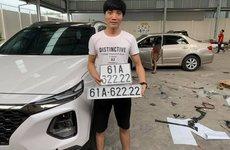 Hyundai Santa Fe biển tứ quý 2 tiếp tục gia nhập đội hình xe Hàn biển đẹp