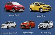 So sánh thông số kỹ thuật của VinFast Fadil, Honda Brio và các đối thủ trong phân khúc hạng A