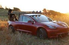 Ngắm chiếc Tesla Model 3 độ phong cách bán tải của cô gái cá tính