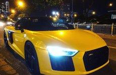 Rời Cường Đô la, Audi R8 bị bắt gặp khi khoác bộ cánh hoàn toàn khác biệt