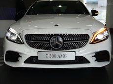 Giá xe Mercedes C300 AMG 2021, giảm tiền mặt trực tiếp, ưu đãi 50% phí trước bạ (dự kiến)