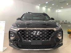 Hyundai Cầu Diễn bán Hyundai Santafe 2021 cao cấp máy xăng, màu đen, tặng 10 triệu, nhiều ưu đãi