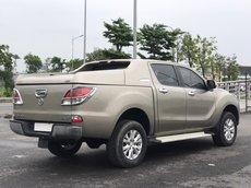 Bán Mazda BT50 2014, 3.2, 2 cầu, số tự động, màu vàng cát