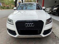 Bán Audi Q5 sx 2013 màu trắng, nội thất nâu cực đẹp