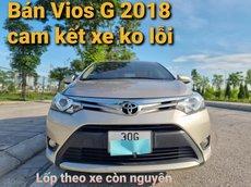 Bán gấp Toyota Vios G 2018, số tự động, màu vàng cát