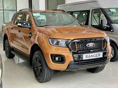 Bán Ford Ranger Wildtrak 2021, mới 100%, đủ màu, 250 triệu lấy xe ngay, tặng BHTV, nắp thùng thấp