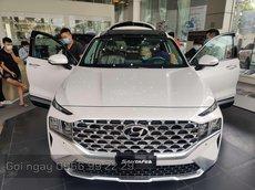 Hyundai SantaFe 2021 - xe và giấy tờ giao ngay - trả góp 85% - hỗ trợ nợ xấu, khó chứng minh tài chính - Hyundai Hà Đông