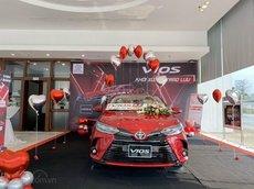 Bán xe Toyota Vios G 2021 màu đỏ, nội thất màu be, chỉ 581 triệu