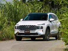 Hyundai Bình Dương bán Hyundai Santa Fe new 2021 sẵn xe giao ngay, hỗ trợ trả góp 90%
