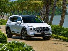 Hyundai Santa Fe 2021 - đỉnh cao phân khúc SUV - tặng thẻ dịch vụ vip trọn đời - trả góp lãi suất cố định 7.5%/năm