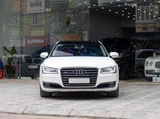 Bán Audi A8L Quattro 4.0L model 2015 màu trắng nội thất nâu san g trọng và đẳng cấp