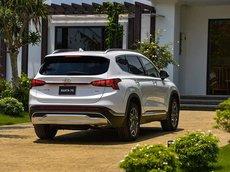 Bán Hyundai Santa Fe 2021, màu trắng, giá cạnh tranh, giao xe tận nơi