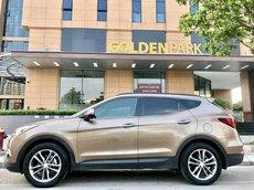 Bán Hyundai Santa Fe sản xuất 2017, màu vàng đồng, giá chỉ 870 triệu