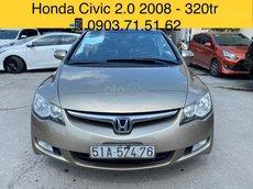 Bán Honda Civic 2.0 năm 2008, màu xám còn mới