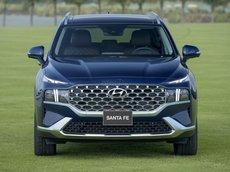 Hyundai Santafe 2021 ưu đãi tháng 06, hỗ trợ vay 90%, xe đủ màu, giao ngay