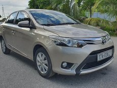 Bán ô tô Toyota Vios sản xuất 2015, màu vàng còn mới, 418 triệu