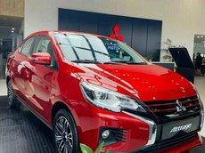 Cần bán Mitsubishi Attrage CVT sản xuất năm 2021, màu đỏ, trả trước 92 triệu