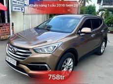 Bán Hyundai Santa Fe đời 2016, màu nâu, giá chỉ 758 triệu