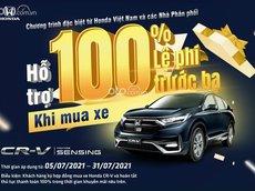 Honda CR V 2021 giảm ngay 100% lệ phí trước bạ - Khuyến mãi khủng phụ kiện + tiền mặt