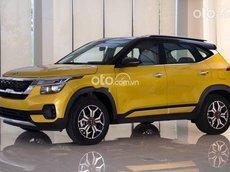 Bán ô tô Kia Seltos 1.4Turbo Luxury sản xuất năm 2021, màu vàng, giá chỉ 669 triệu