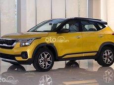 Cần bán xe Kia Seltos 1.4turbo Deluxe đời 2021, màu vàng, 615 triệu