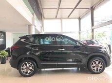 Bán xe Kia Seltos 1.4 Turbo Luxury 2021, màu đen, giá 669tr