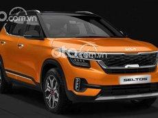 Cần bán Kia Seltos 1.4 Turbo Premium năm sản xuất 2021, màu cam, 739 triệu