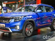 Cần bán xe Kia Seltos Premium sản xuất năm 2021, màu xanh lam