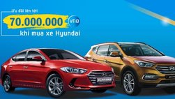 Ưu đãi lên đến 70 triệu khi mua Hyundai Santa Fe và Elantra