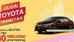 Toyota Vios, Innova và Corolla Altis ưu đãi lên đến 40 triệu đồng trong tháng 7+8