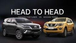 Soi bản số sàn xe Nissan Terra và Toyota Fortuner tại Việt Nam