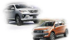 Toyota Fortuner và Ford Ranger đồng loạt rơi khỏi top bán chạy năm 2018 vì Nghị định 116