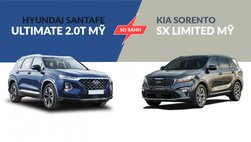 So sánh thông số kĩ thuật xe Hyundai Santa Fe Ultimate 2.0T và Kia Sorento SX Limited