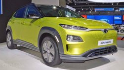 [BIMS 2019] Xe điện Hyundai Kona vàng chóe ra mắt tại triển lãm ô tô Bangkok