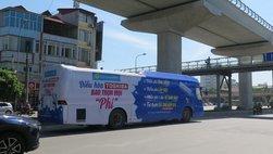 Xe bus, xe khách dán chằng chịt quảng cáo sẽ bị phạt