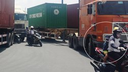 Nhớ nhanh những điều quan trọng khi đi gần xe container