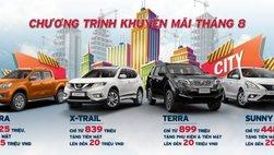 Nissan khuyến mại tháng 8, X-Trail và Sunny giảm cao nhất 20 triệu đồng