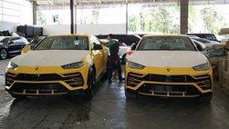 """Lamborghini Urus """"nở rộ"""" tại Campuchia, bộ đôi đồng màu vừa cập bến xứ chùa tháp"""
