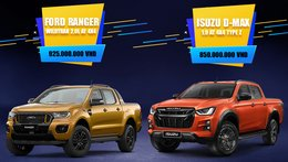 [Infographic] So sánh nhanh trang bị Ford Ranger Wildtrak và Isuzu D-Max Type Z 2021 tại Việt Nam