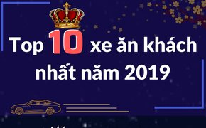 Infographic: Top 10 xe bán chạy nhất thị trường ô tô Việt năm 2019