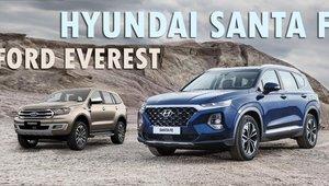 So sánh xe Hyundai Santa Fe 2019 và Ford Everest 2019: Xe Mỹ có 'ngon' hơn xe Hàn?