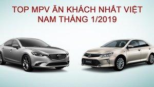Xếp hạng xe hạng D tháng 1/2019: Toyota Camry ăn khách, Honda Accord không bán được xe nào