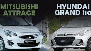 So sánh xe Hyundai Grand i10 2019 và Mitsubishi Attrage 2019: Tầm giá 400 triệu chọn sedan nào cho phải?