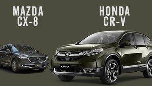 So sánh xe Mazda CX-8 2019 và Honda CR-V 2019: Giá cả có nói lên chất lượng?