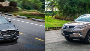So sánh xe Mazda CX-8 2019 và Toyota Fortuner 2019: Kỳ phùng địch thủ